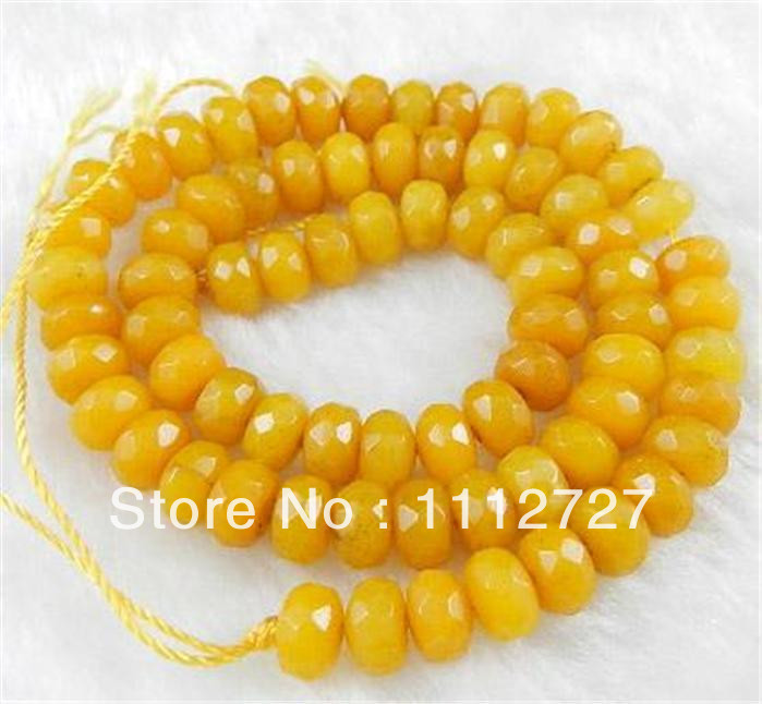 Trendy Accessory Crafts Parts Trendy 5x8mm Yellow Semi Finished Stones Chalcedony Faceted Abacus Loose Beads 15 Wholesale